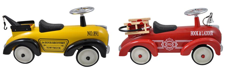 Marquant loopauto, brandweer loopauto, retro loopauto