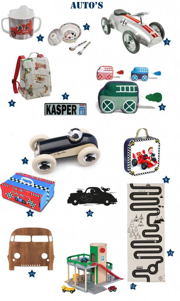 Speelgoed-autos, auto cadeautjes