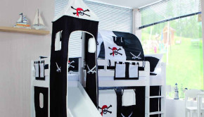 kinderkamer, piratenbed, ridderbed, piratenkamer, ridderkamer, jongensbed, home24