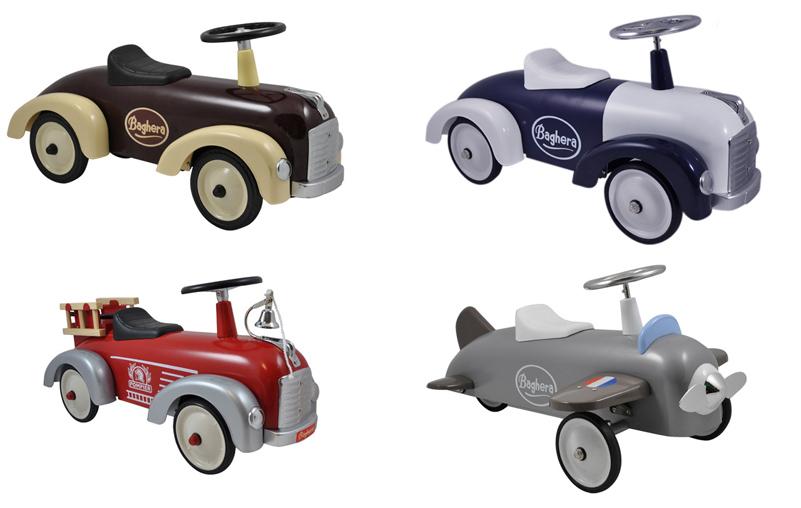 Baghera loopauto's, loopauto brandweerwagen, loopauto vliegtuig, klassieke loopauto