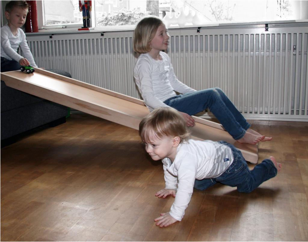 speelplank, houten glijbaan voor in huis