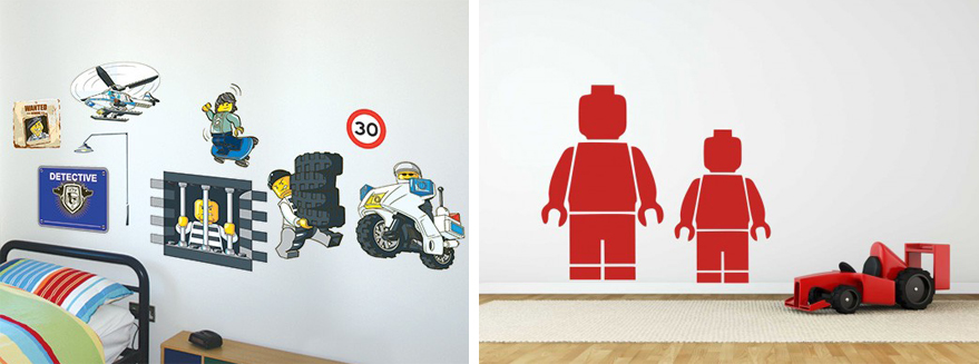 Lego muurstickers