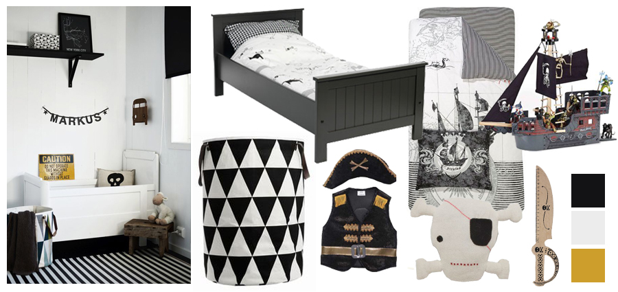 Tips Aankleding Slaapkamer : ... Piratenkamer l Stoere jongenskamer ...