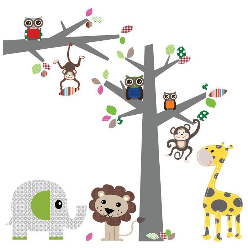 jongens babykamer, muurstickers boom
