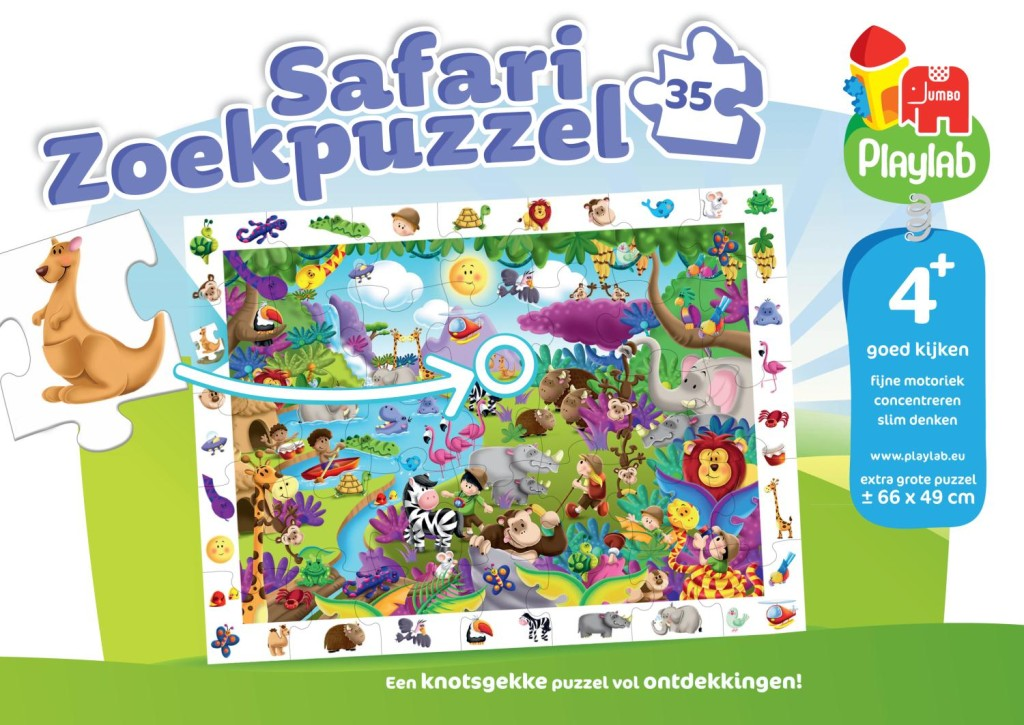 playlab, safari zoekpuzzel