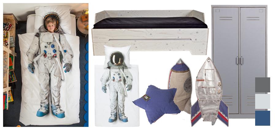 Astronautenkamer l kinderkamer thema astronauten - Thema baby boy kamer ...