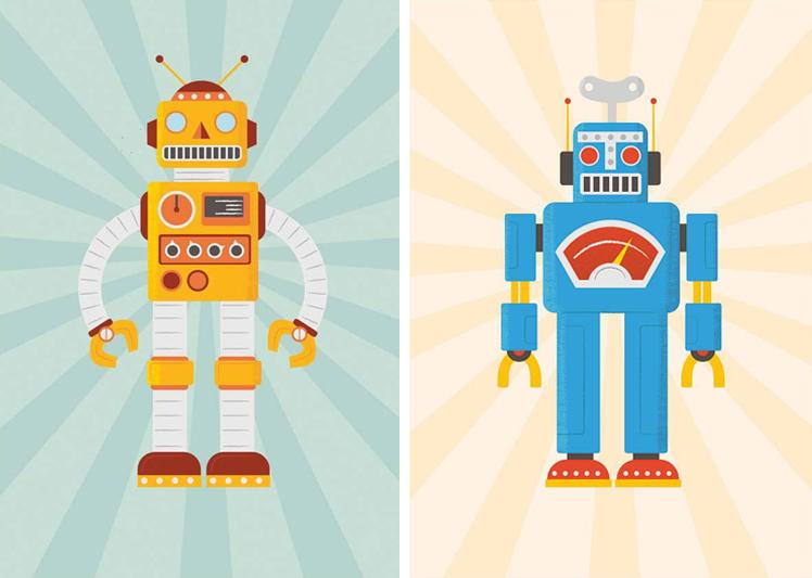 robot kinderkamer, robotkamer, robotposters, robot