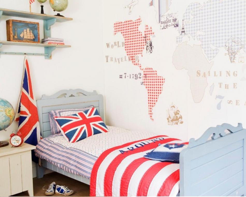 Slaapkamer Behang Blauw: Woonkamer blauw groen pure amp original ...