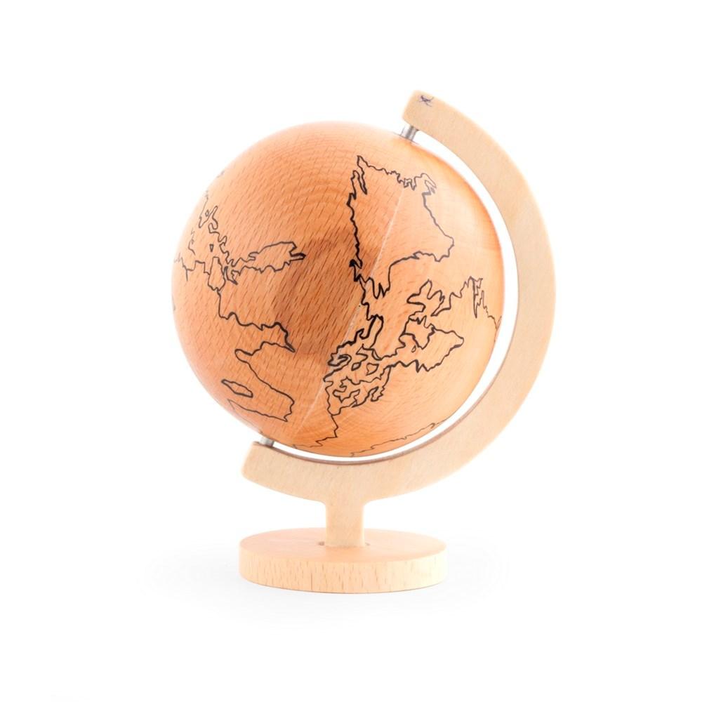 houten wereldbol