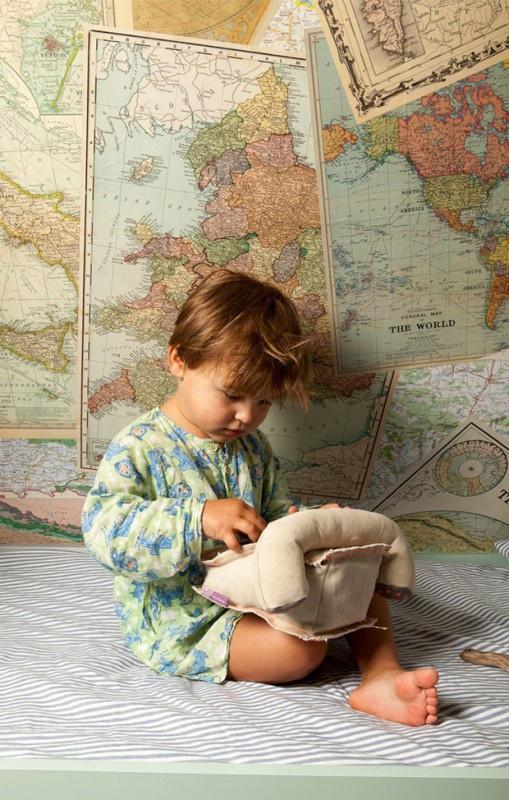 colorique kinderkamer, jongenskamer wereld, kinderkamer thema wereld