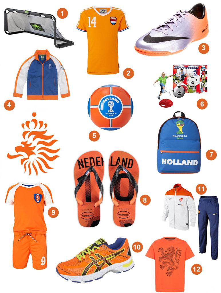 wk voetbal 2014, kids met oranjekoorts