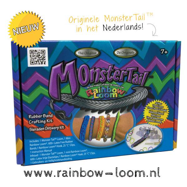 monster tail loom, rainbow loom monster tail