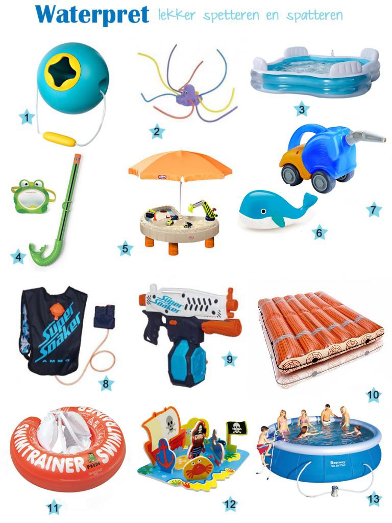 Waterspeelgoed, buitenspeelgoed, waterpistolen, zwembaden, waterpret, zomerspeelgoed, leuk voor kinderen