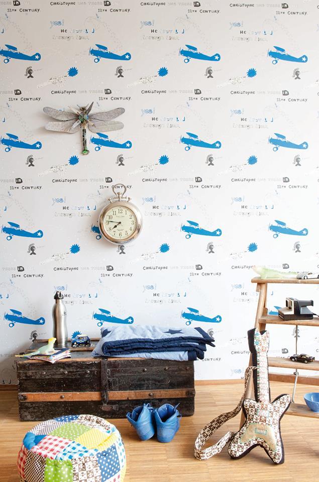pilotenkamer, vliegtuig behang, stoere jongenskamer voorbeelden