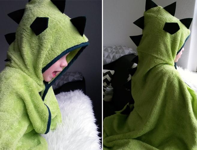 CuddleDry Badcape, smartmama, drakencape, drakenhanddoek
