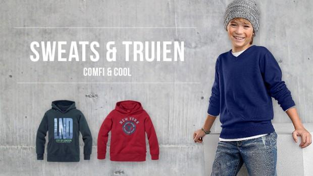 Jongenstrui, sweats en truien voor jongens, stoere sweaters voor jongens