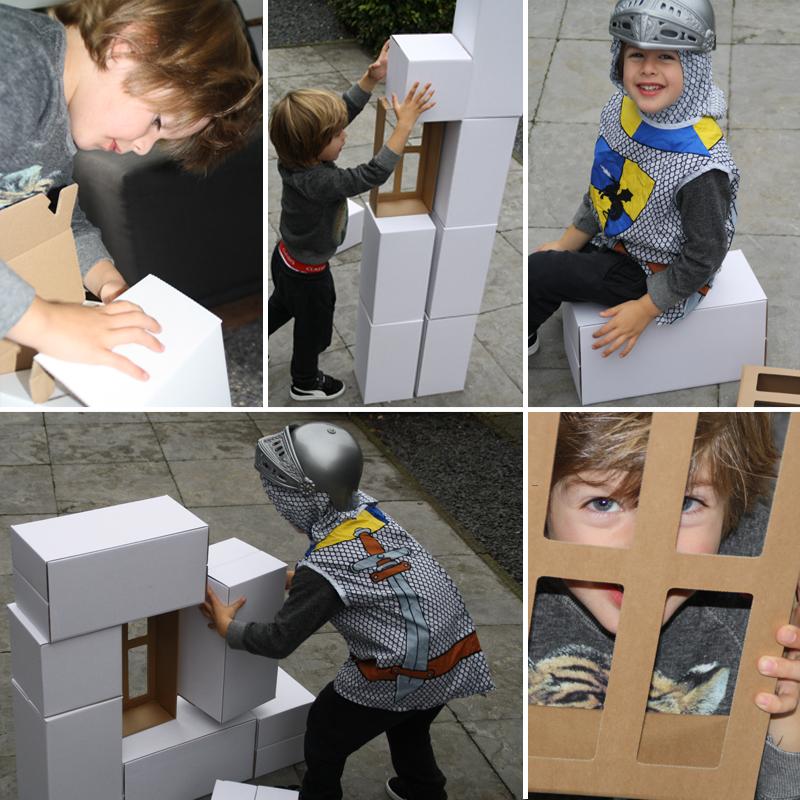 Mega grote blokken, kartonnen blokken, big bricks