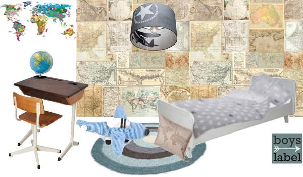 Behang Kinderkamer Vliegtuigen : Jongenskamer kinderkamerstylist