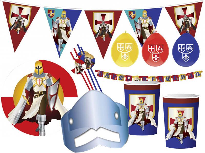 Ridderfeest, feestversiering, ridderverjaardag