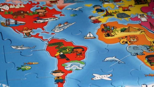 Wereldpuzzels, puzzels voor kinderen, playlab spelen