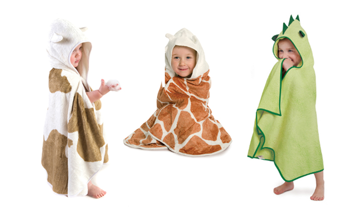 badcape draak, badcape giraffe, cuddledry badponcho, kinderponcho
