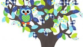 behangboom_blauw, behangbomen, babykamer