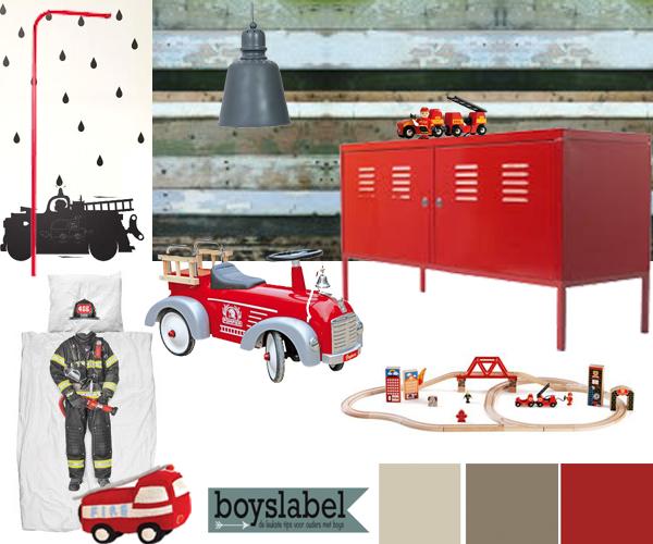 stoere kinderkamer, brandweerkamer, jongenskamers, kinderkamers, jongenskamer voorbeelden, jongenskamer inspiratie