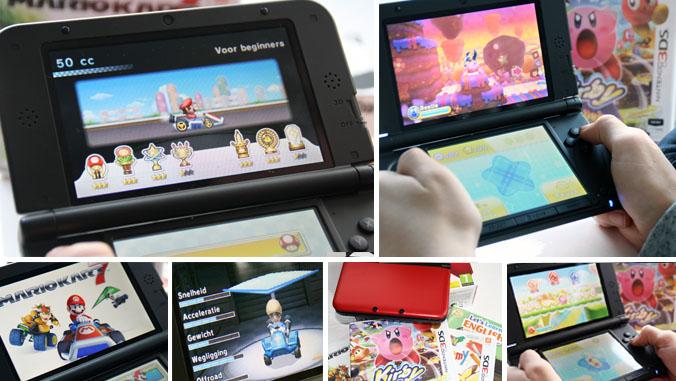 Nintendo 3DS XL, nintendo 3DS review, Mario kart 7 nintendo, Kirby nintendo