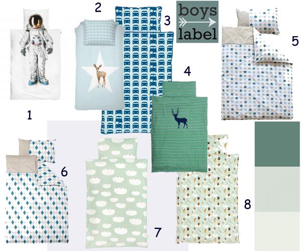 Slaapkamer zachte kleuren slaapkamer : Het verzamelde beddengoed is van de merken; Taftan, Damai kids, Little ...