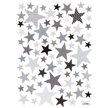 lilipinso-muurstickers-sterren-grey
