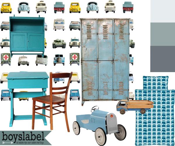 Blauw behang kinderkamer l Blauw op de muur