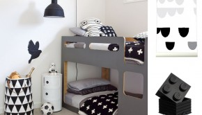 zwart wit kinderkamer, black and white kinderkamer, kids room, hippe jongenskamer, hippe kinderkamers