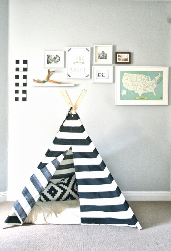 Black white l zwart wit kinderkamer styling - Muur kamer kind ...