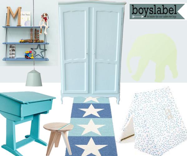 Jongenskamer, blauwe kinderkamer, kinderkamer voorbeelden, jongenskamer inspiratie, kinderkamer styling