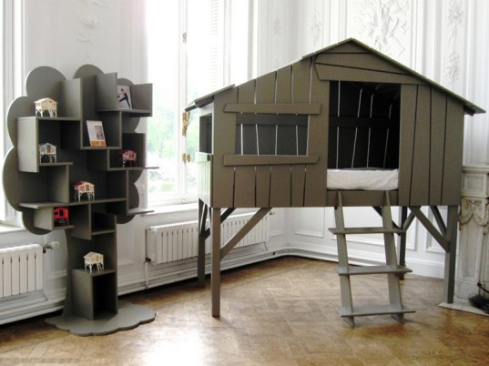 Mathy-by-Bols-Hut-Loft-Bed, boomhutbed, bijzondere bedden, kinderkamer bedden, jongensbedden