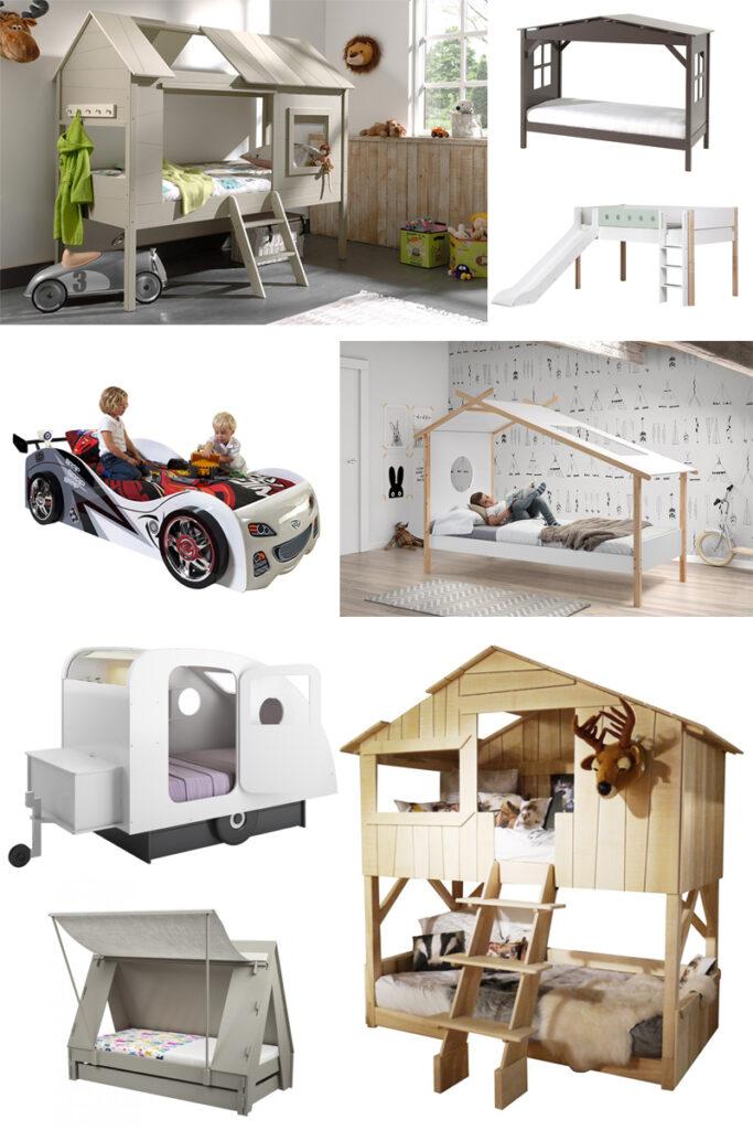 bijzondere bedden kinderkamer, boomhutbed, tent bed, caravanbed, bedhuis, jongensbed