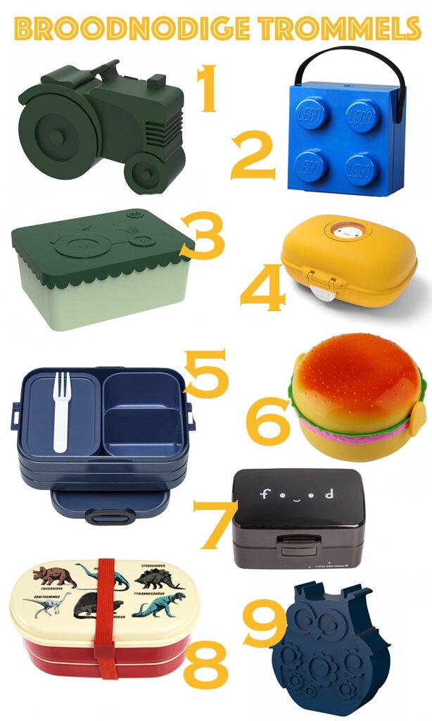 broodtrommels voor kinderen, kinder lunchbox