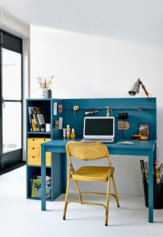 Blauwe jongenskamer l kinderkamer styling tips for Bureau kinderkamer