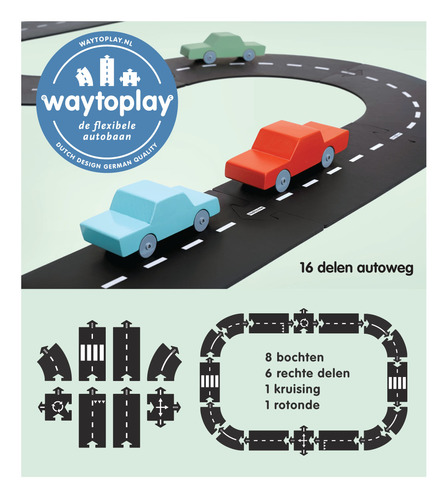 Way to play, flexibele autobaan, jongensspeelgoed
