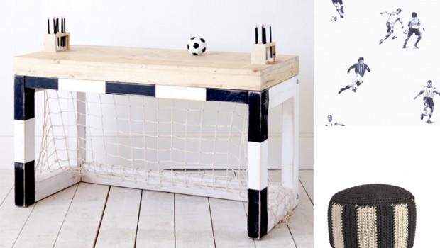 Voetbalkamer voorbeelden interieur meubilair idee n - Jarige jongenskamer ...