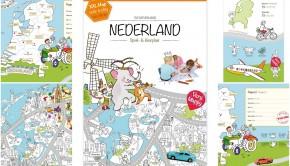 Very Mappy, Reuze kleurplaat van Nederland, landkaart kleurplaat