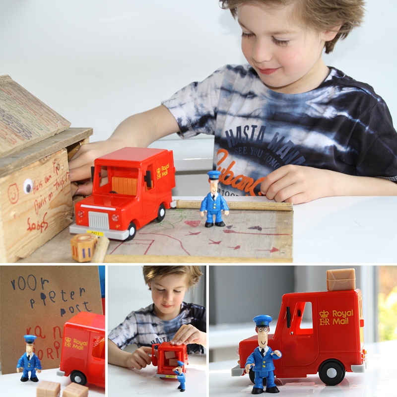 pieter post speelgoed, pieter post auto, jongensspeelgoed , speelgoed review, speelgoed auto, postwagen