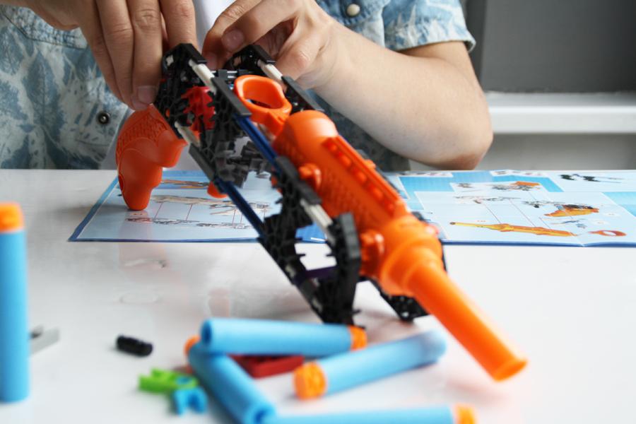 KNEX K-force, constructie speelgoed, nieuw speelgoed, leuk voor jongens, jongensspeelgoed, knex pistolen, boyslabel