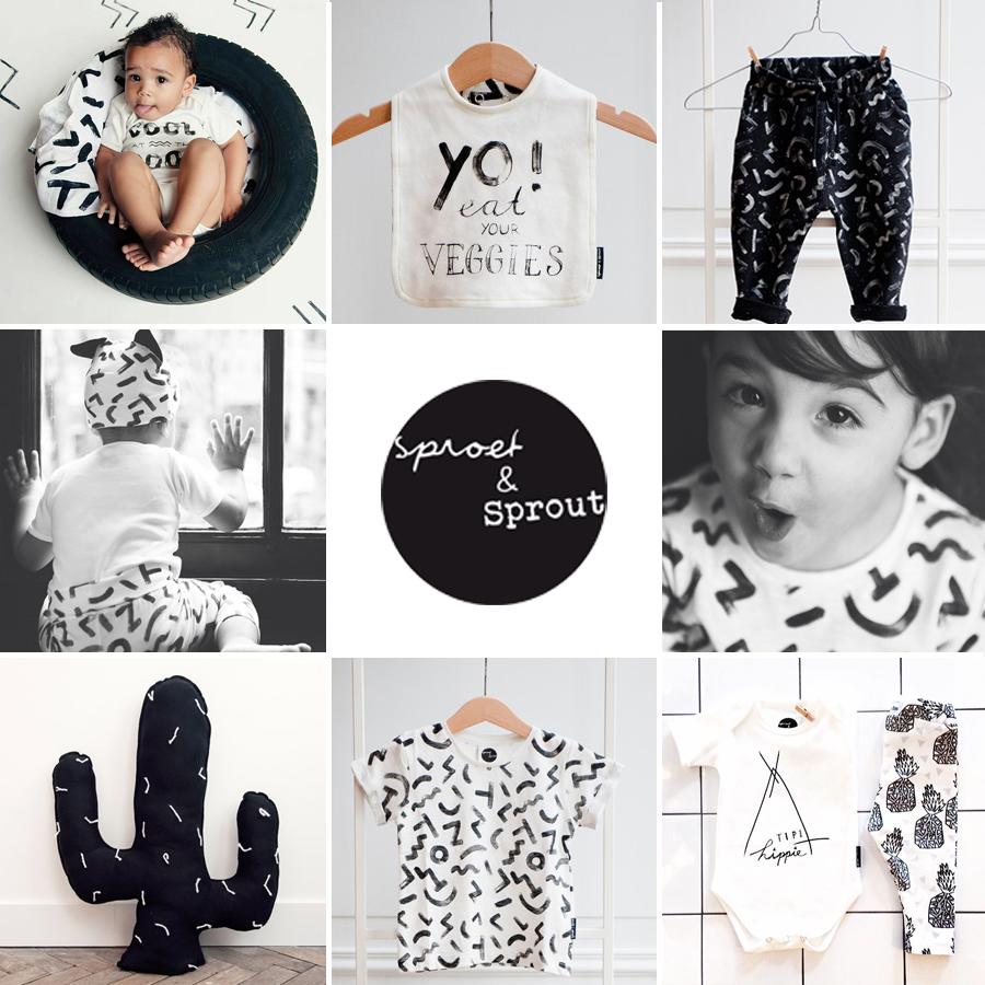 ... babykleding, sproet en spruit kinderkleding, urban babykleding