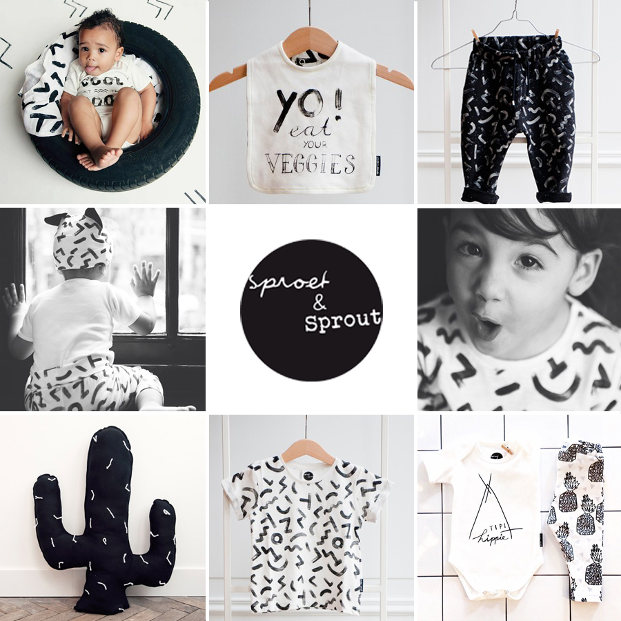 Sproetsprout, sproetensprout babykleding, sproet en spruit kinderkleding, urban babykleding