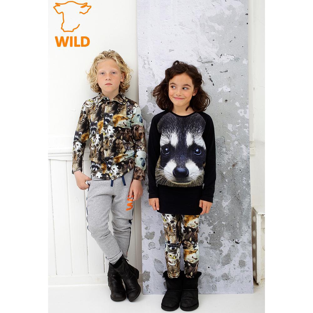 WILD kinderkleding, hippe kinderkleding met dierenprints, jongenskleding, wild schoenen