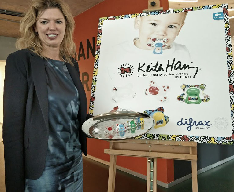 fopspenen Keith Haring, Difrax spenen, baby, hippe fopspenen,