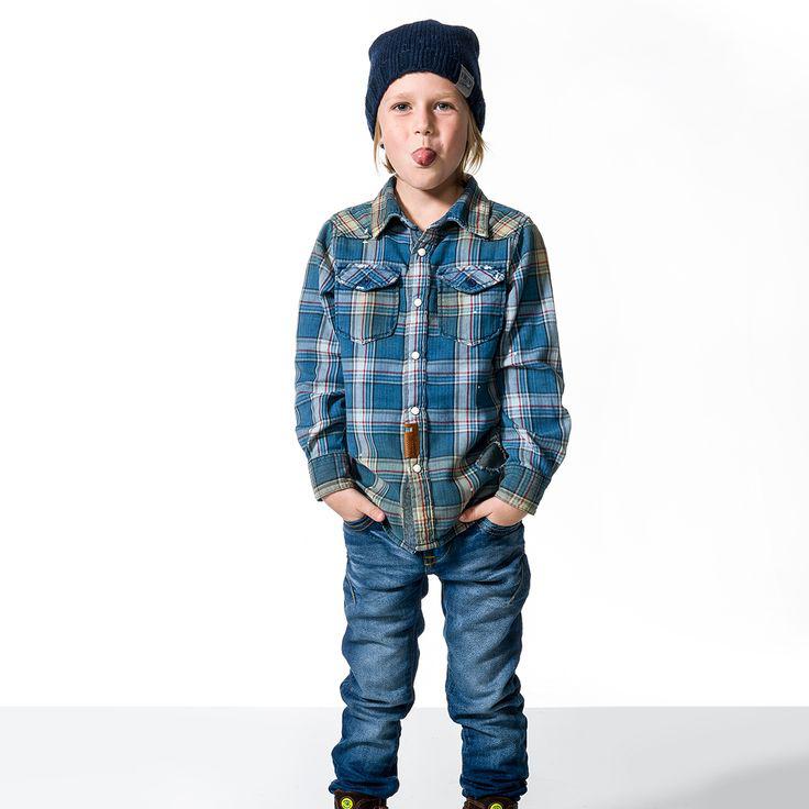houthakkers overhemden voor jongens, vingino bloes, ruitjes bloes voor jongens