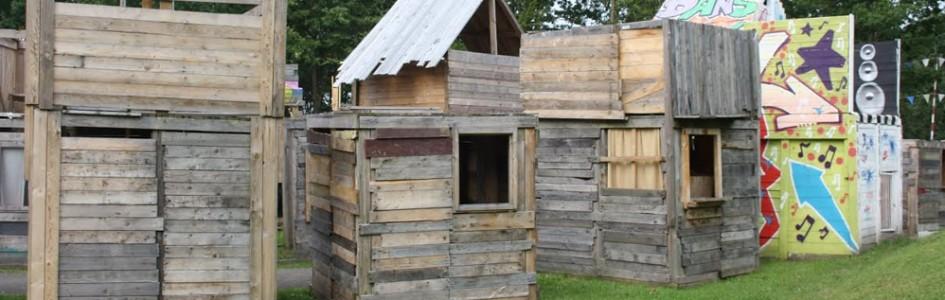 hutten bouwen kinderfeestje