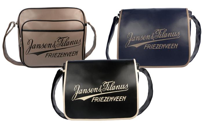 jansen en tilanus tassen, jongenstassen, vintage tassen, schoudertassen